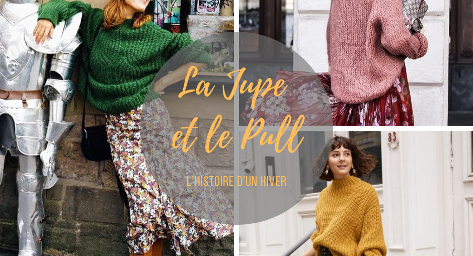 mode hiver jupe pull